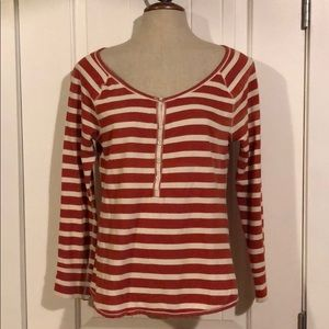 3/$10 // OLD NAVY Henley Long Sleeve Striped Top